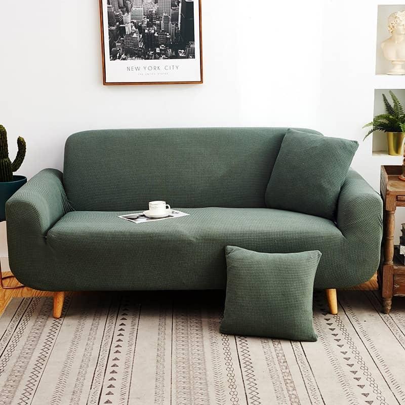 housse de canapé verte