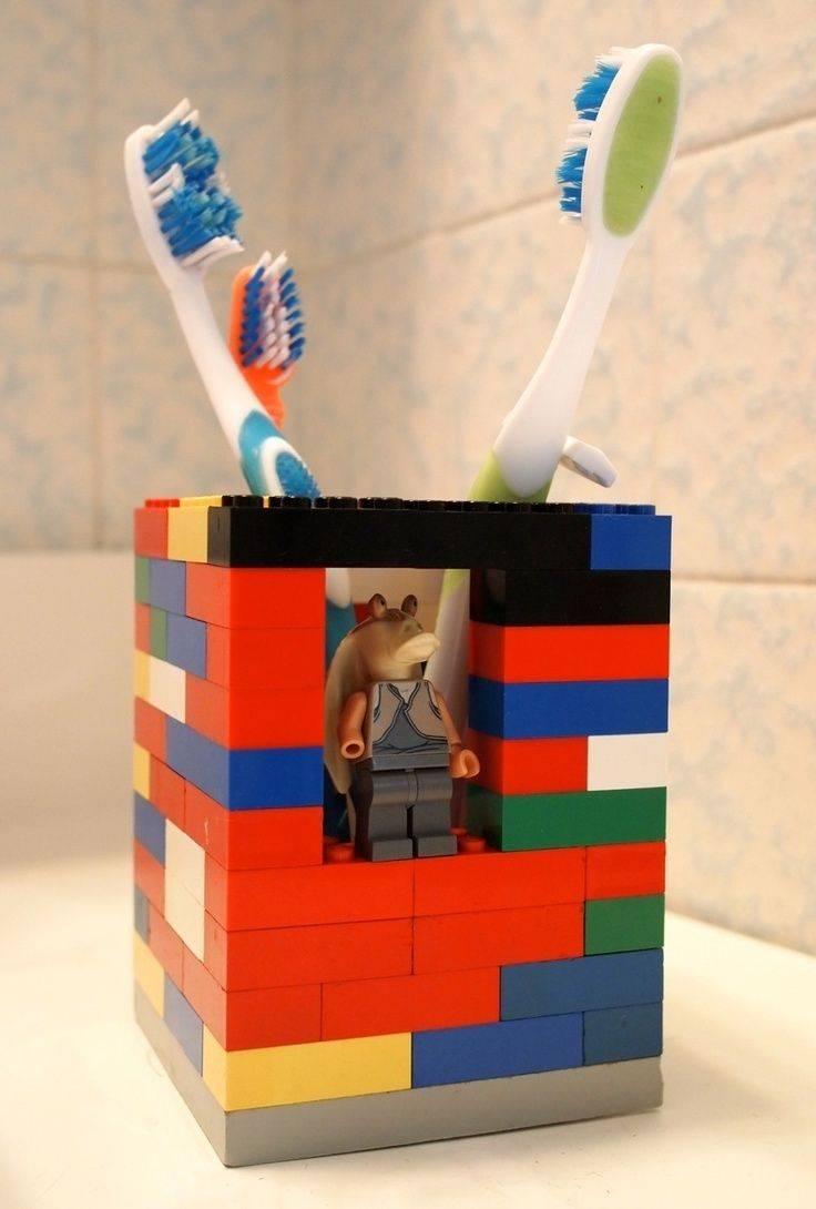 Simple DIY Lego Toothbrush Holder