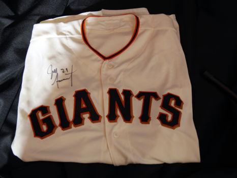 San Francisco Giants Autographed Jersey Jeff Samardzija