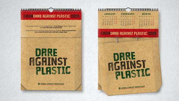 Concept/Production of Corporate Calendar - CalenDARE Against Plastic
