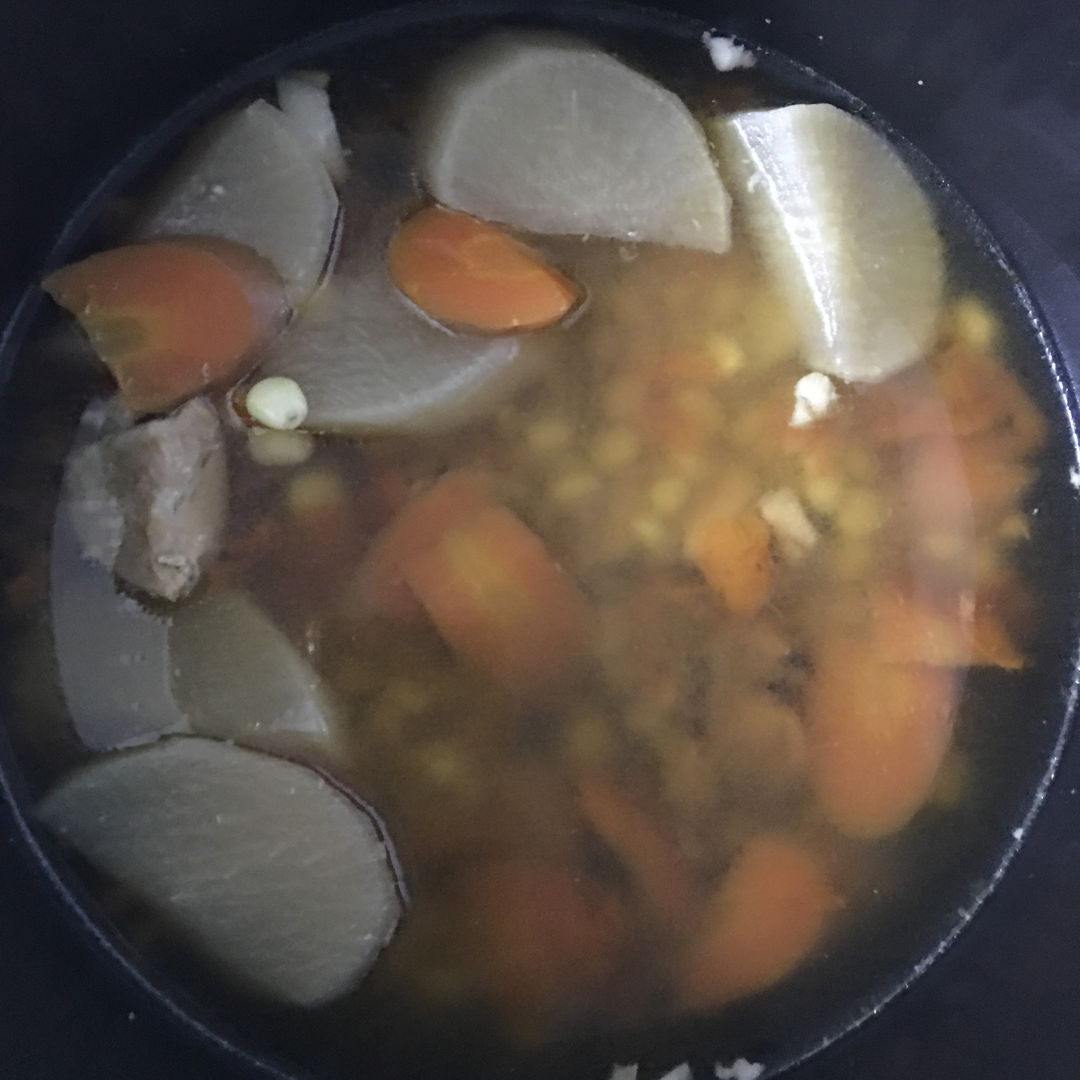 Oct 25th, 2019 - White carrots soup. Simple yet yummy.  ;)) nice and warm soup for rainy day