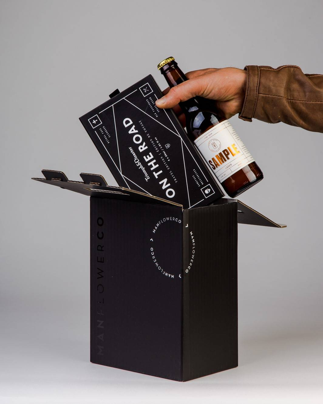 Skincare Travel kit + Beer, part of Manflower Co's range of holiday gifts for men.
