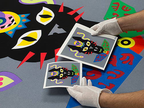 Fine art giclee color proofing