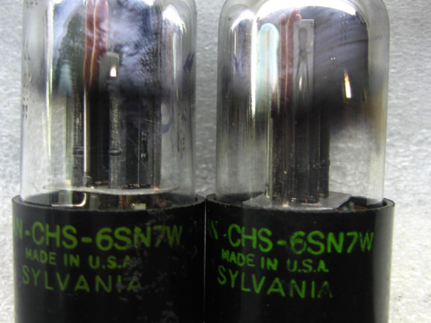 SYLVANIA 6SN7W  6SN7 W PLATINUM MATCHEDPAIR NOS, with test data