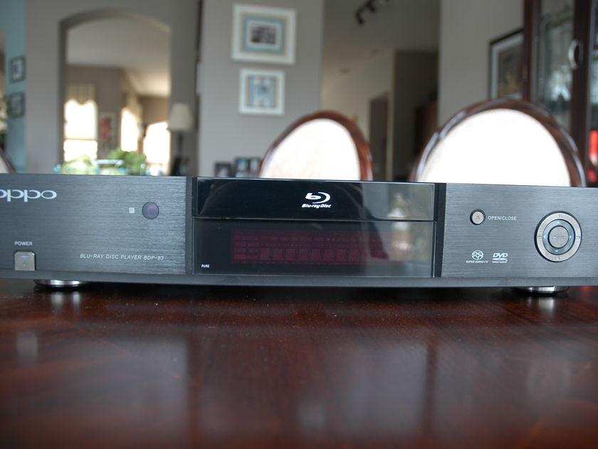 Oppo bdp-83 blu ray/ SACD/ DVD audio player