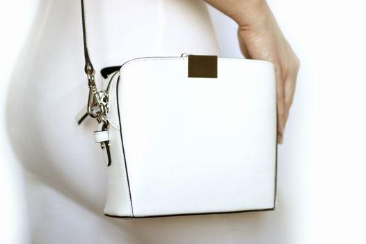 Белая кожаная сумка Luna