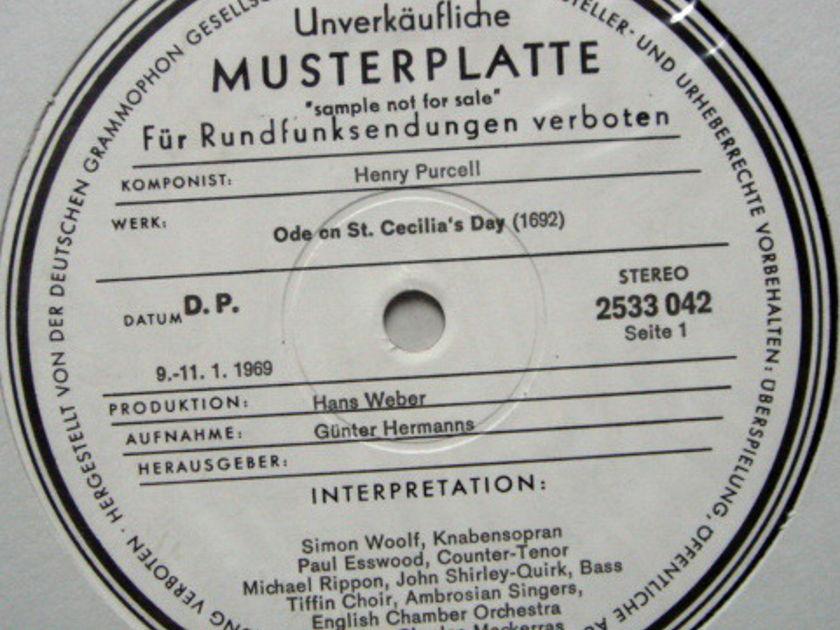 ★1st Press★ Archiv / MACKERRAS, - Purcell Ode on ST.Cecilia's Day,  MINT, White Promo Copy!
