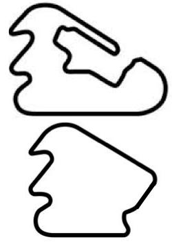 Pocono Full-Double Infield map
