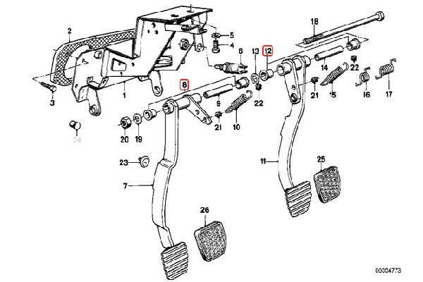 E30 Brake Clutch Bushing 35211109541