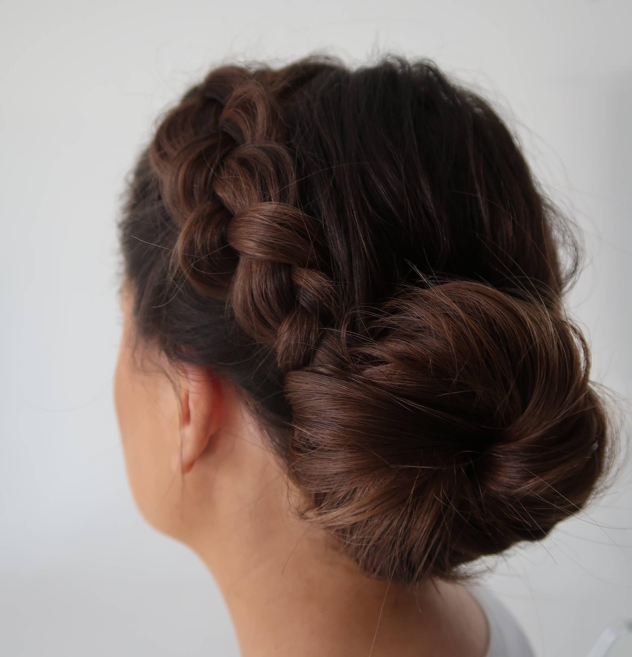 Davines braided bun tutorial how to