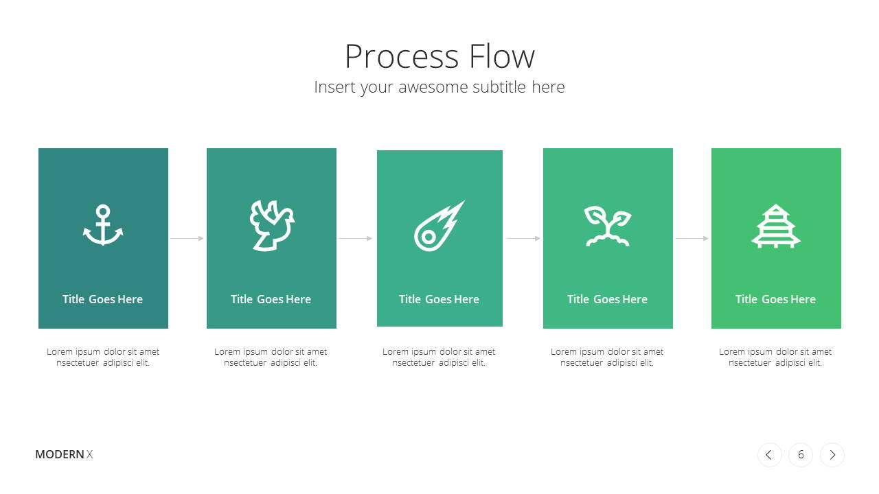 Modern X Marketing Plan Presentation Template Process Flow