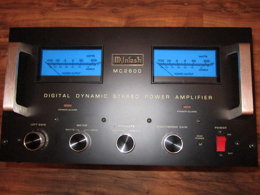 McIntosh MC-2600 amplifier - Just serviced - tested at 710 wpc - MC2600