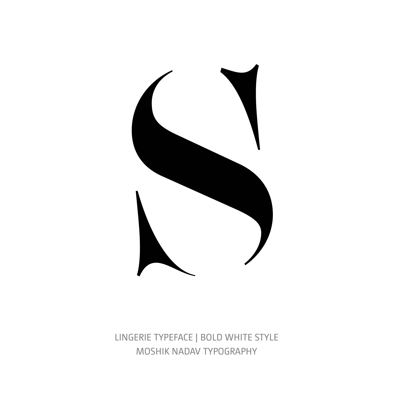 Lingerie Typeface Bold White S