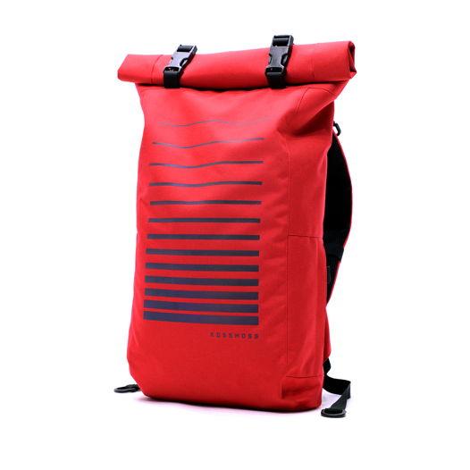Красный ролл топ рюкзак / Red Reflective Backpack / Сумка велосипедиста