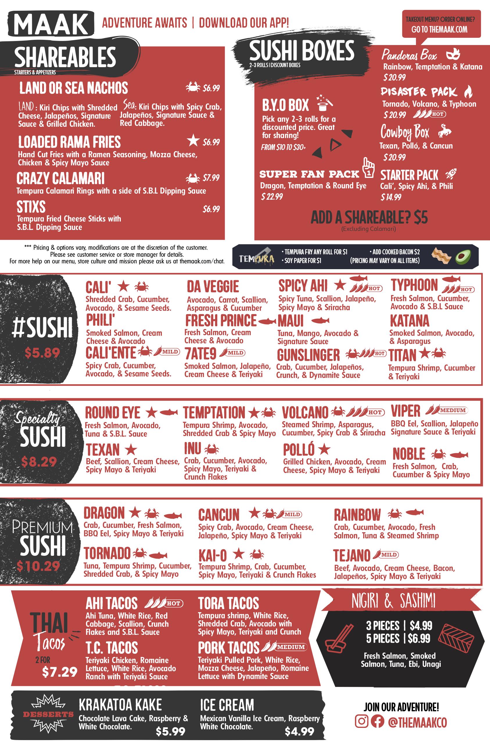Maak+menu