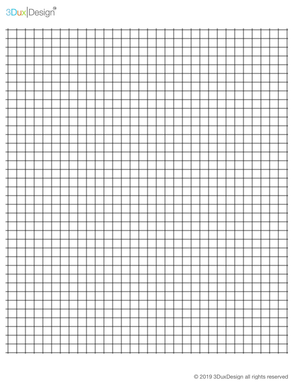 3duxdesign  scaled graph paper