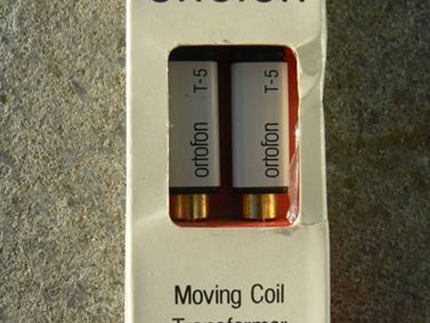 ORTOFON T-5 STEP UP TRANSFORMERS -   FOR A MOVING COIL CARTRIDGE - STILL IN ORIGIONAL BOX - FREE WORLD WIDE AIRMAIL SHIPPING