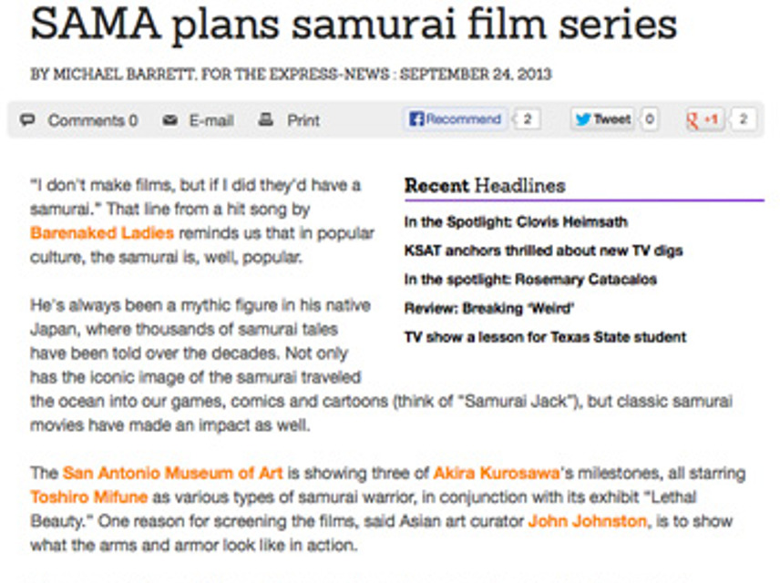 SAMA, Samurai Film
