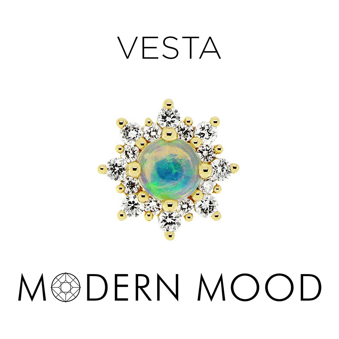 vesta goddess opal diamond piercing jewelry