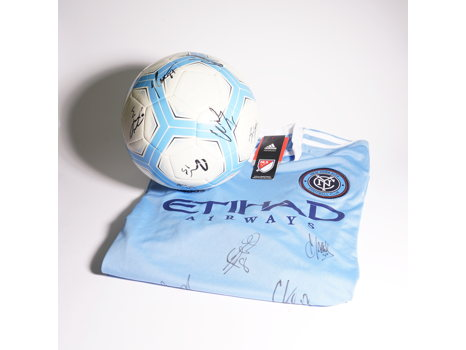 NYCFC Signed Jersey & Soccer Ball