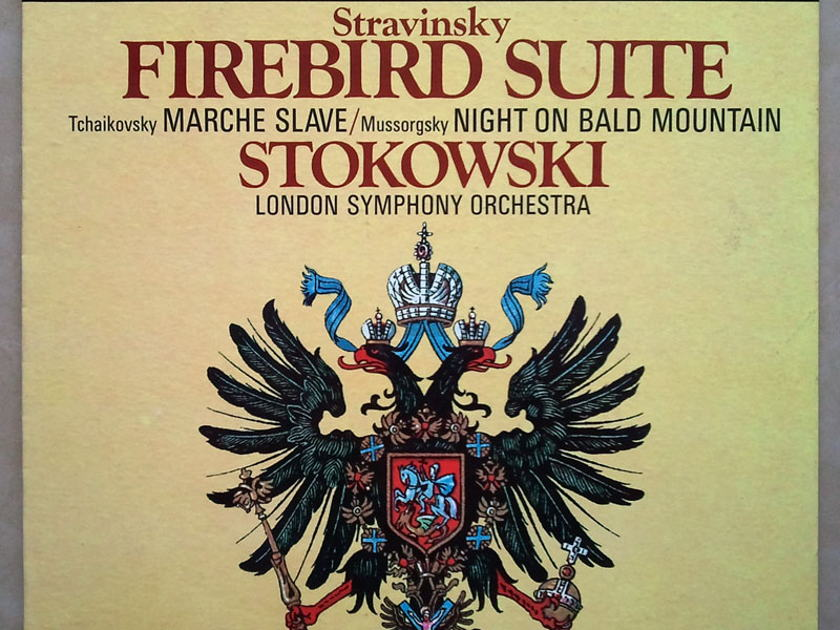 London Phase 4/Stokowski/Stravinsky - Firebird Suite, Tchaikovsky Marche Slave Mussorgsky Night on Bald Mountain / NM