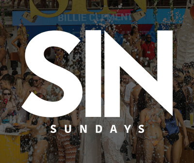 fiestas domingos O beach club sundays, Sin sunday 2020 tickets