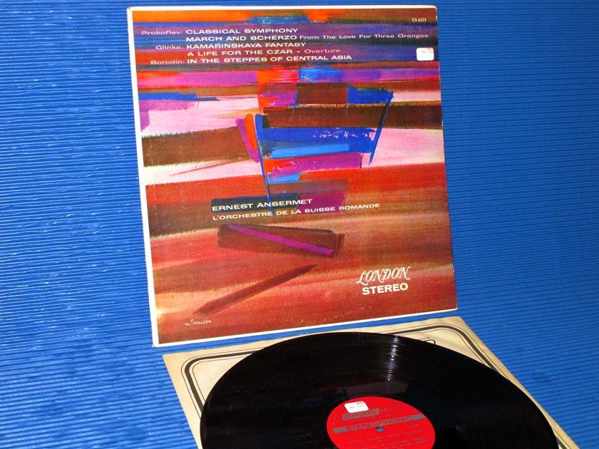 """PROKOFIEV / GLINKA / BORODIN / Ansermet  - """"Classical Symphony / Llife For The Czar /  Steppes of Central Asia"""" - London 1968"""