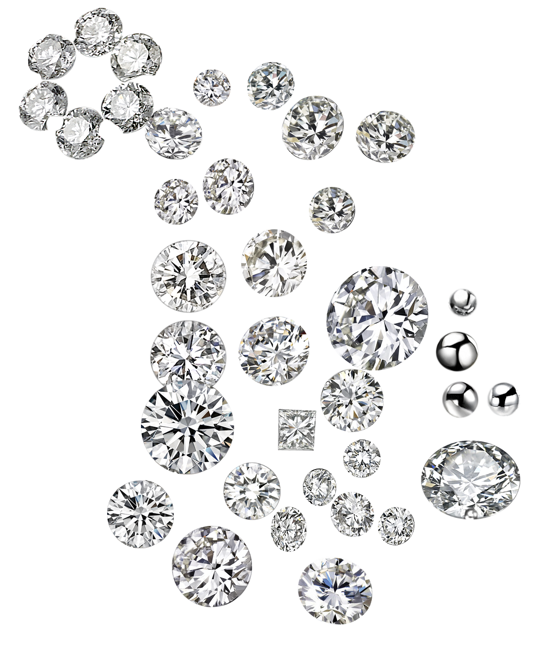 Evolution of Man-made Diamonds
