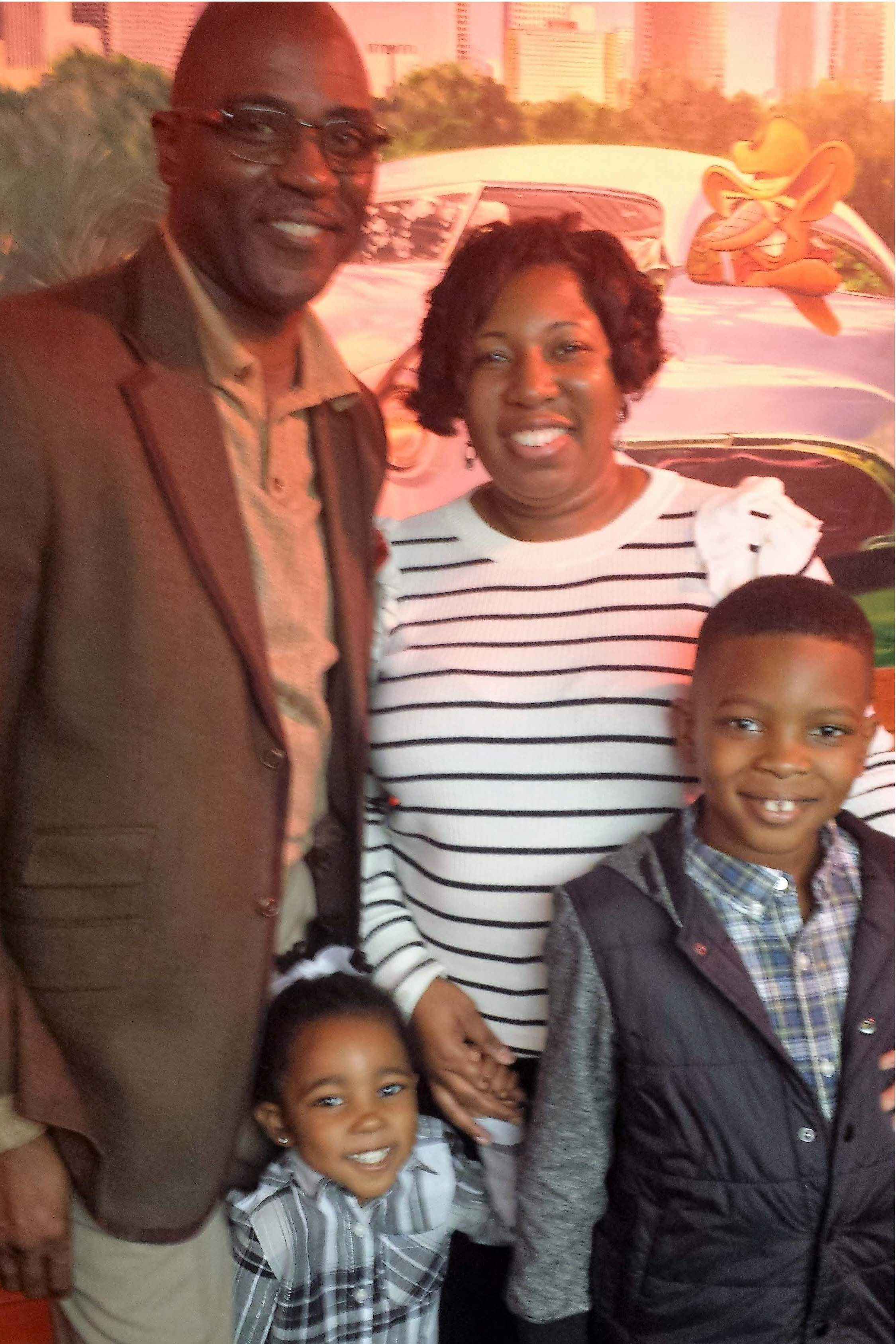 The Abston family, family of the month for August