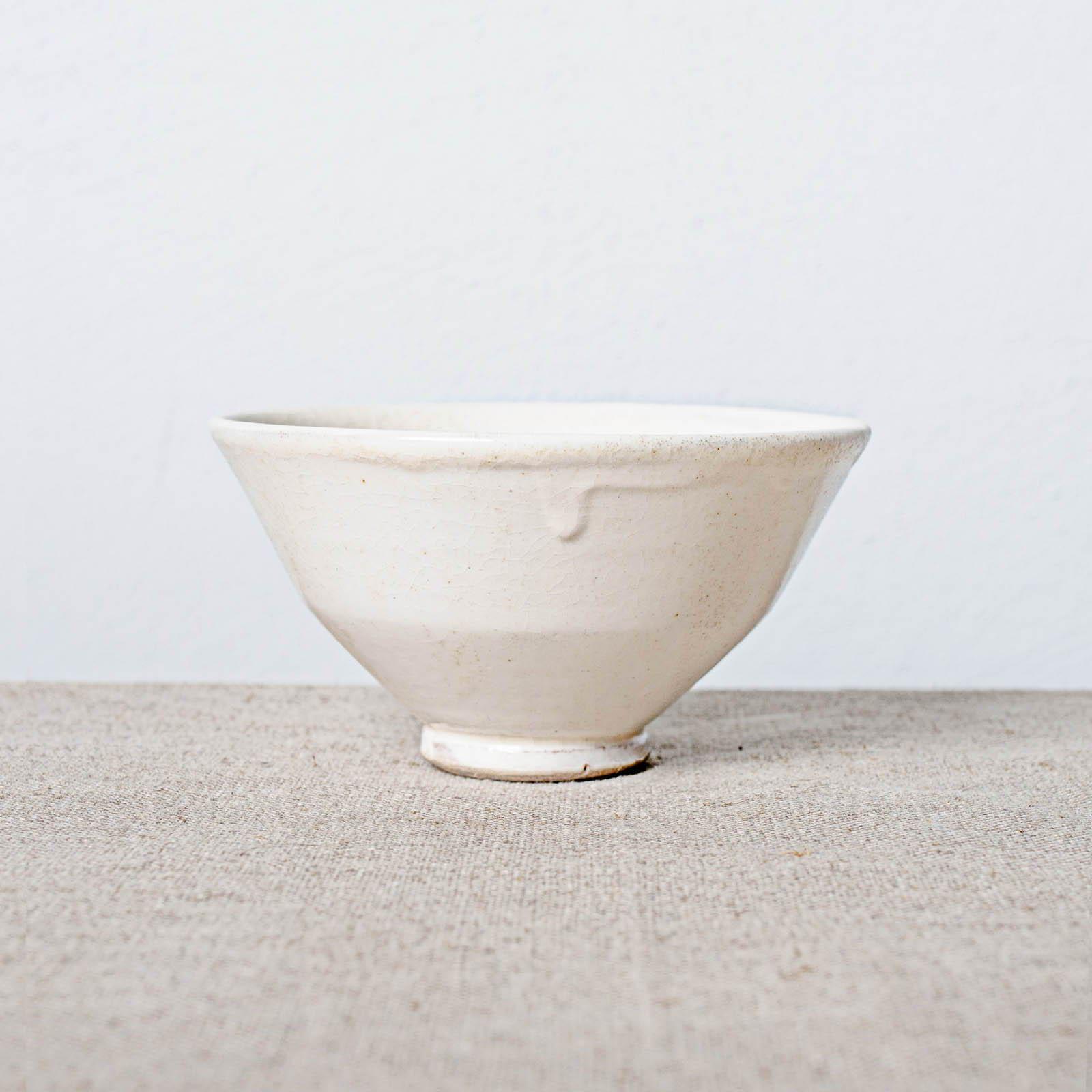 glazed stoneware cup