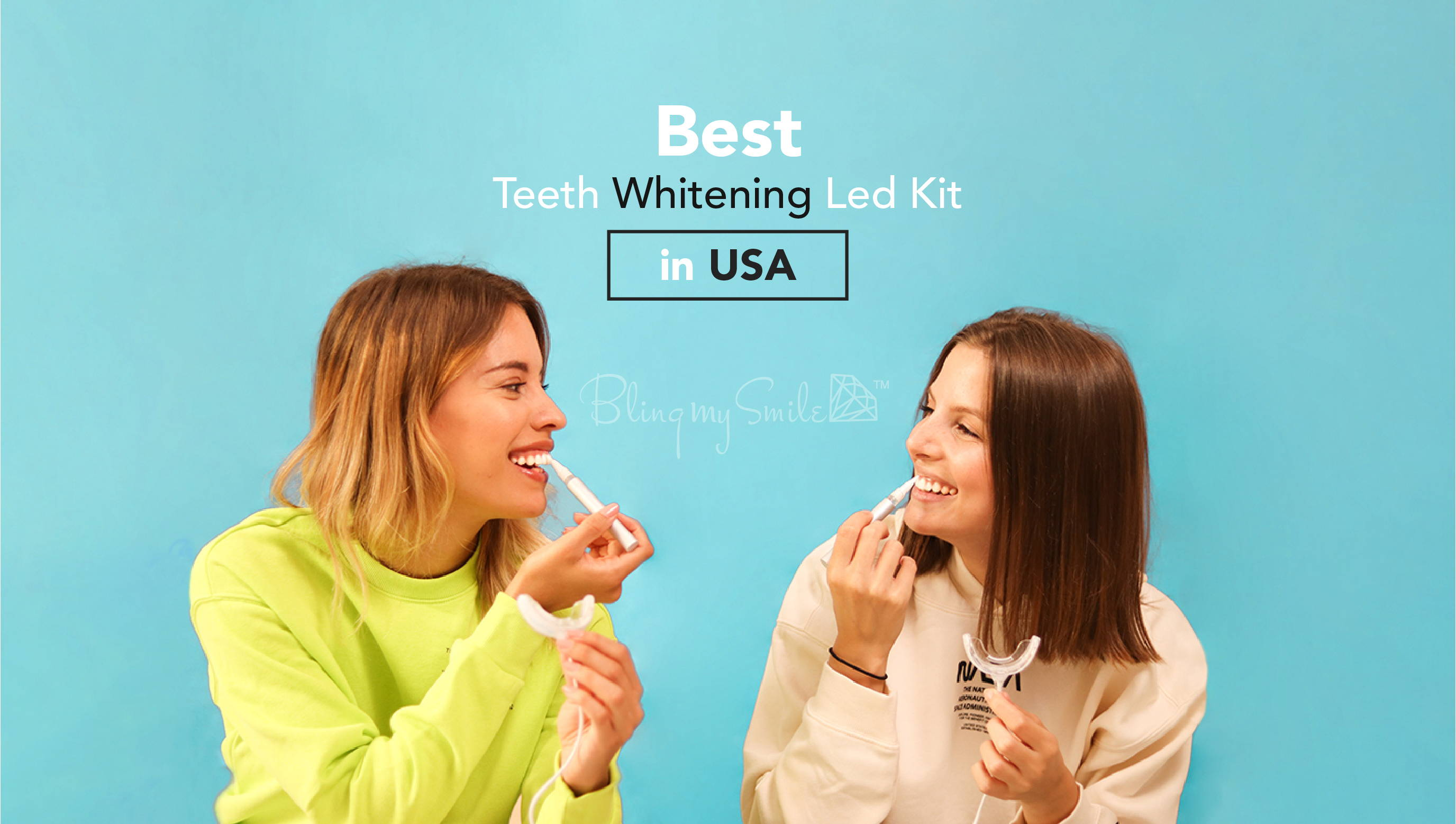 Bling my Smile teet whitening led kit teeth whitening in just 10 minutes without sensitivity