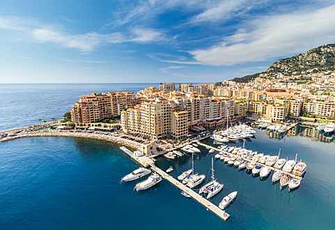 Luxembourg - View over the port of Fontvieille Monaco