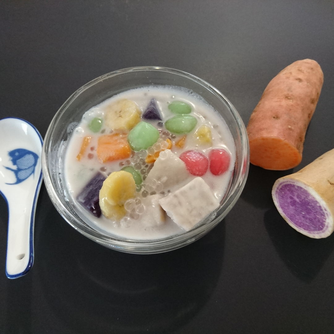 Date: 1 Nov 2019 (Fri) 15th Dessert: Bubur Cha Cha (Coconut Milk Dessert) [83] [101.8%] [Score: 10.0] Author: Nyonya Cooking [Grace Teo]  Cuisine: Malaysian, Singaporean  Dish Type: Dessert  Another 10.0! Nyonya Cooking has gained the respect of the Evil Guardian of the Kitchen!
