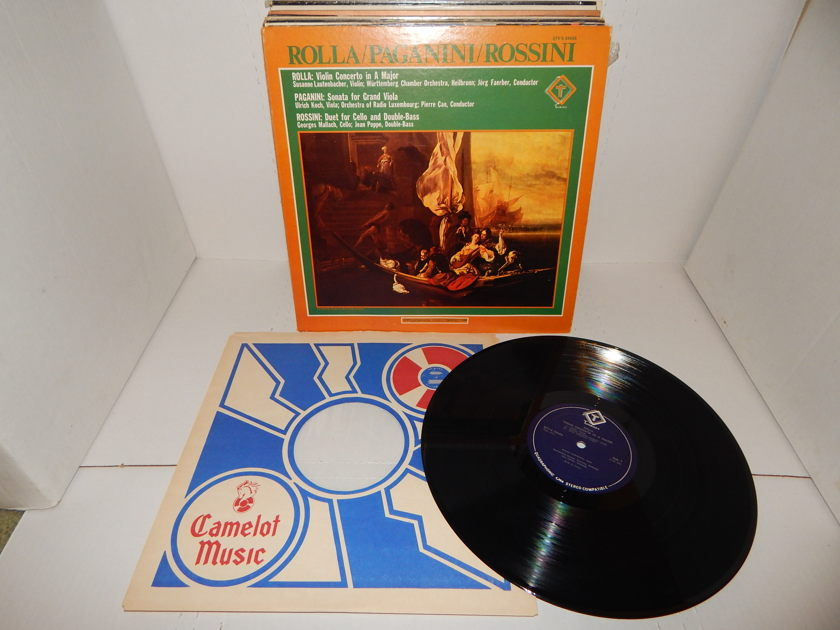 ROLLA PAGANINI ROSSINI - Violin Grand Viola Cello Double Bass Quadraphonic Stereo Compatible 1975 VOX Turnabout Classical LP
