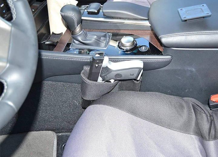 bed gun HOLSTER, bed frame gun holster, bed holster