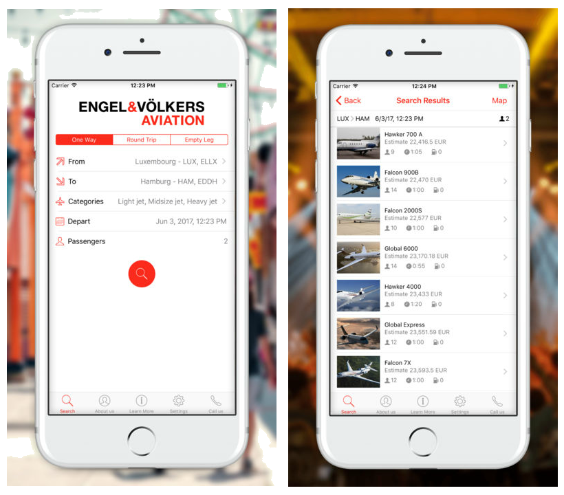 Luxembourg - Preview of the E&V Air iPhone app
