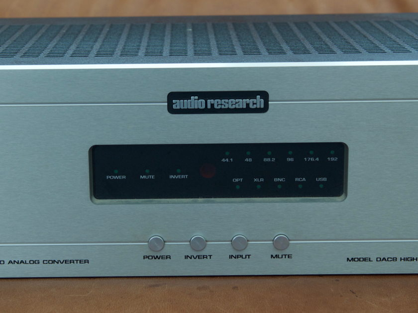 Audio Research DAC8 Digital to Analog Converter