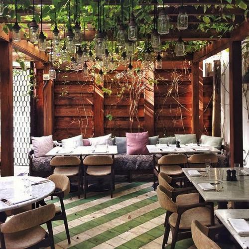 Nature cafe interior design