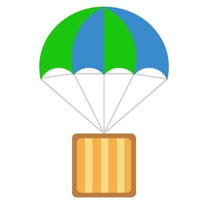 vector graphic of hot air balloon