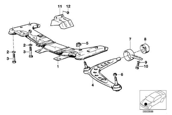 E30 Front Control Arm Bushing 31129058931