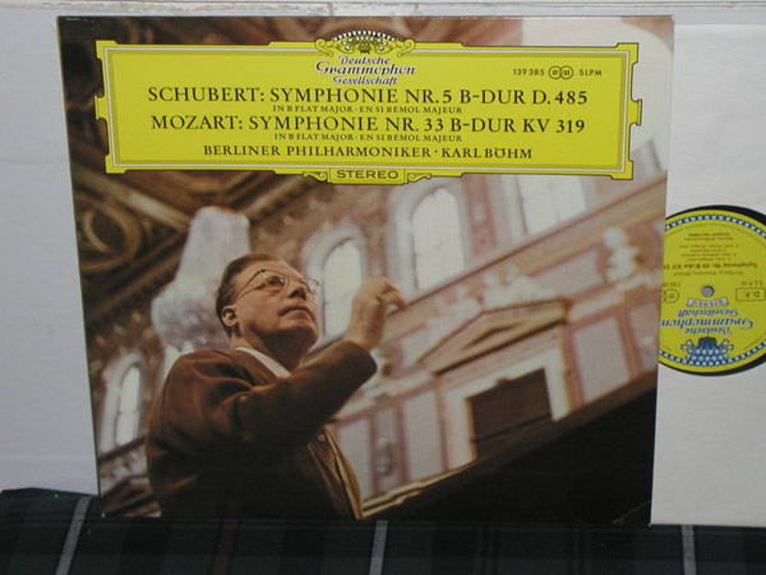 Bohm/BPO - Schubert/Mozart DGG German Tulip LP