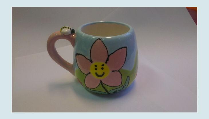mal werk kindergeburtstag blume keramik tasse