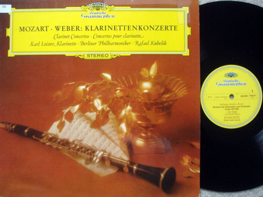 DG / LEISTER-KUBELIK, - Mozart-Weber Clarinet Concertos, NM!