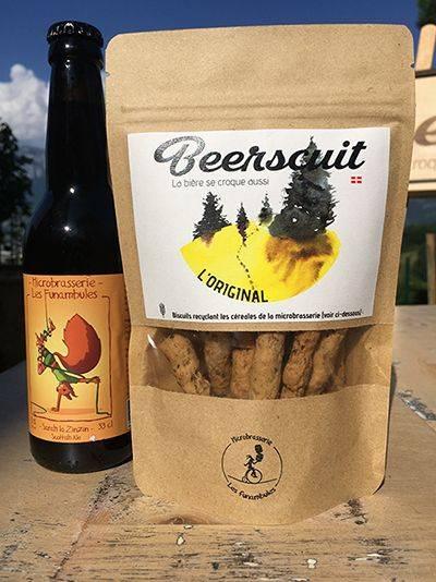 biscuit original apéro recyclé à partir de la bière