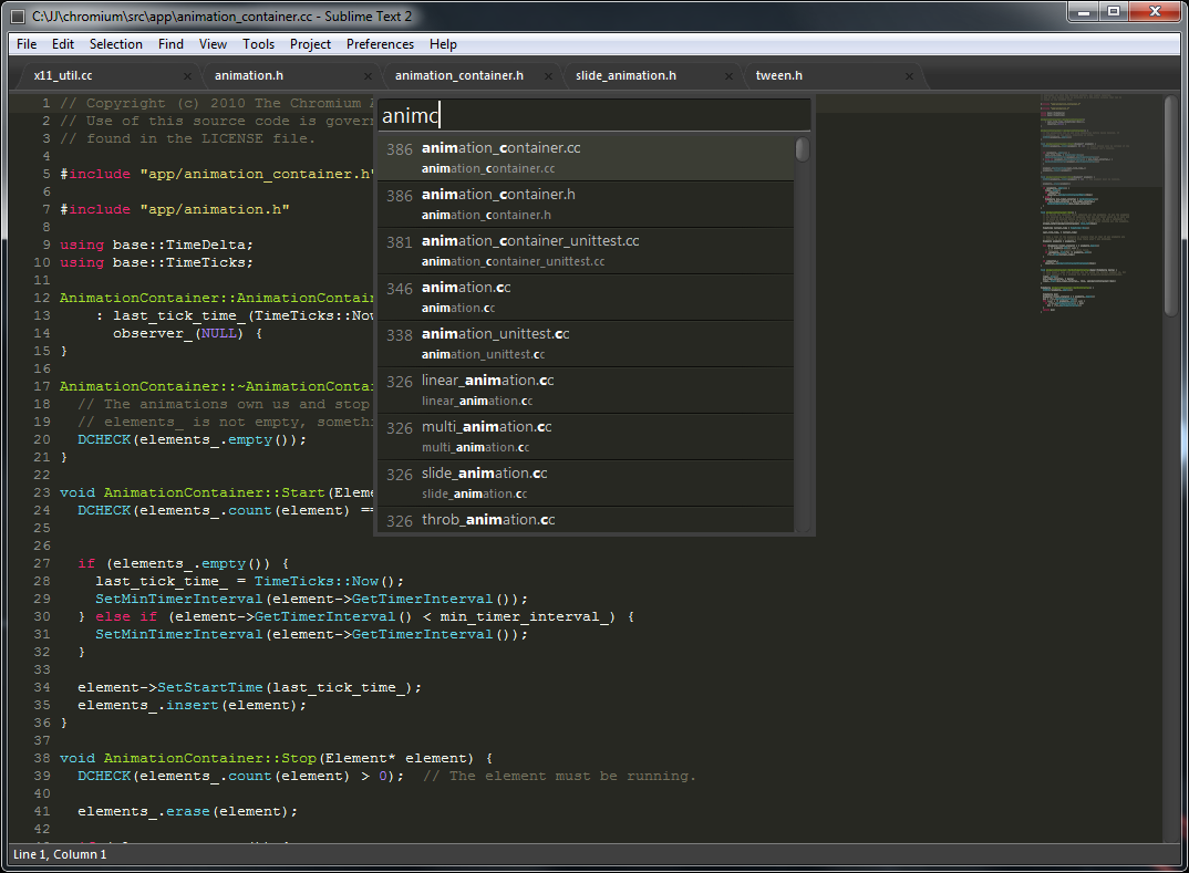 Sublime Text with C Improved plugin vs CLion detailed