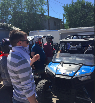 Outdoor inspiration: At an ATV rental shop outside of the Uinta mountain range before we set off on the trails.