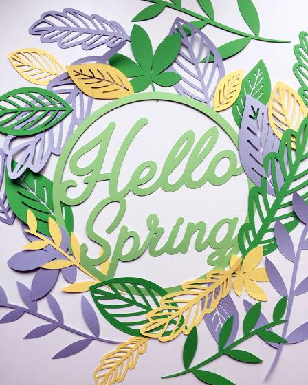 Бумажная композиция «Hello Spring»