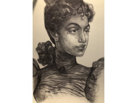 "Arthur Tennant Lithograph, Signed and numbered of Madge Tennant drawing ""Princess Kaiulani"""