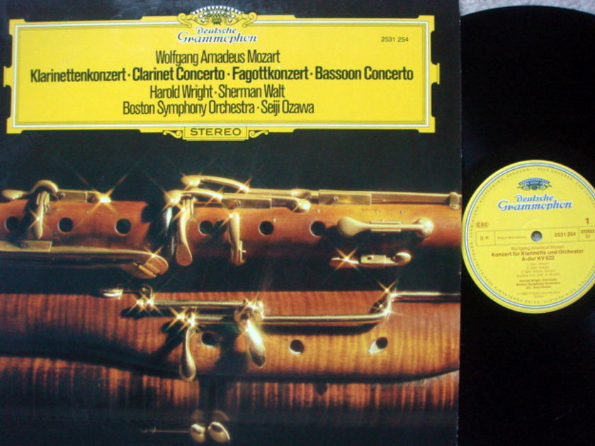DG / Mozart Clarinet-Bassoon Concertos, - WRIGHT/WALT/OZAWA/BSO, MINT!