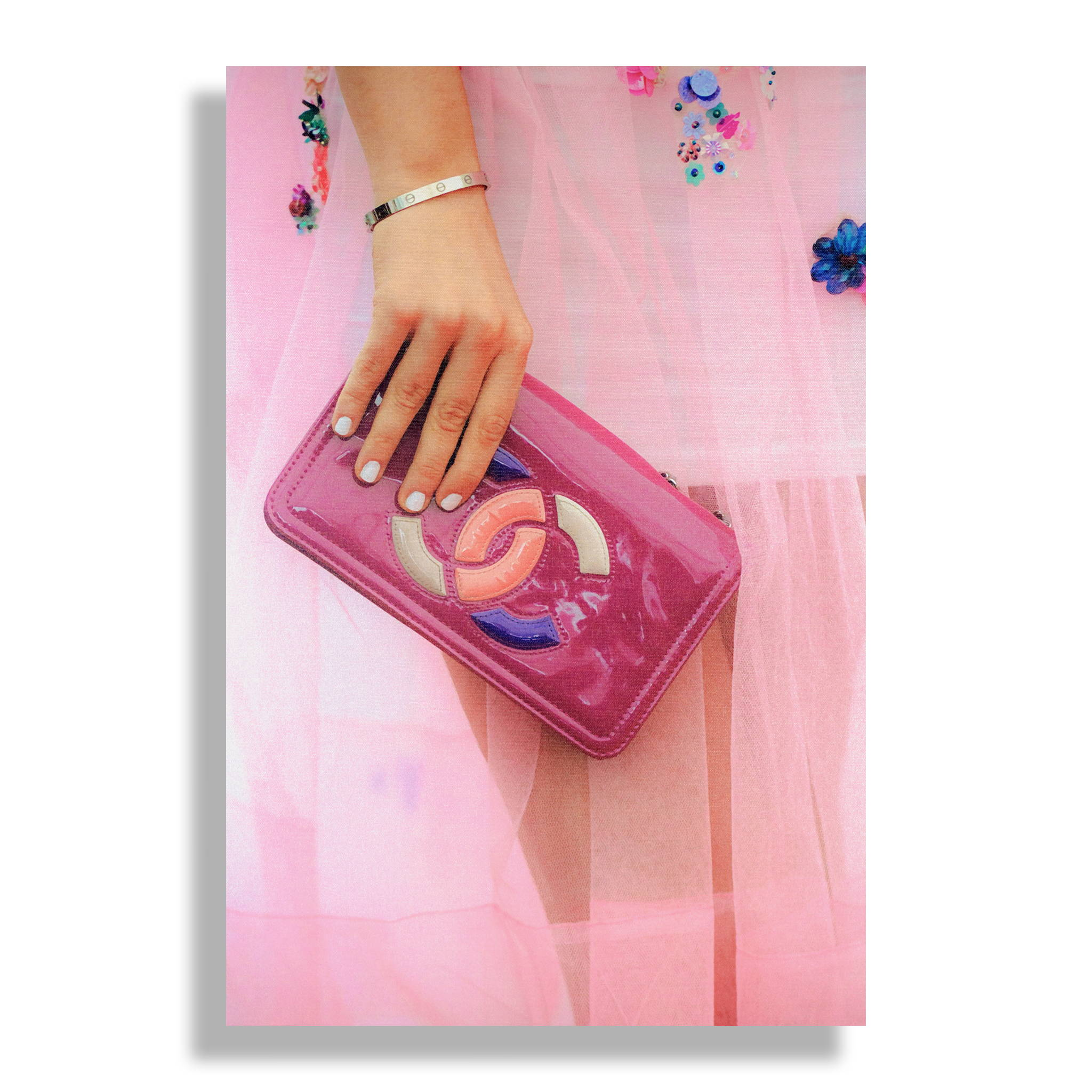 Fashion Wall Art Print - Pretty in Pink - Recoveted